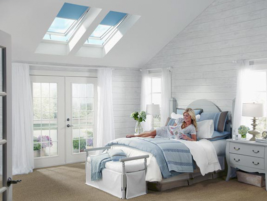 VSE M06 Electric Venting Skylights with 3180 Blackout II
