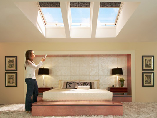 VSE M06 Electric Venting Skylights with 3180 Blackout Blinds I